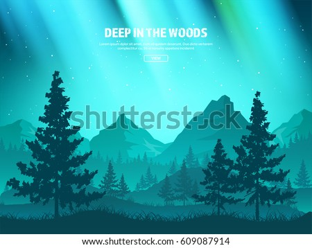mountains and forest wild