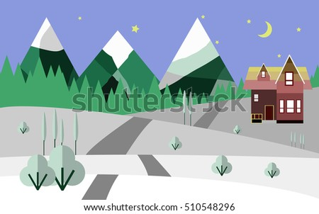 mountains and snow  nature