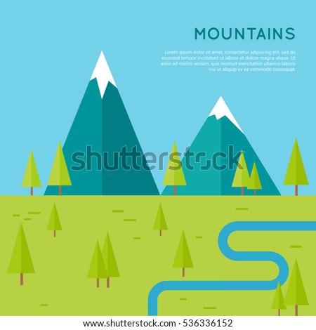 mountains conceptual vector in