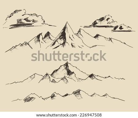 mountains  contours of the