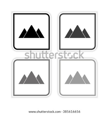mountains    grayscale vector