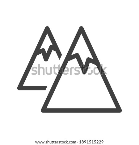mountains icon a simple line