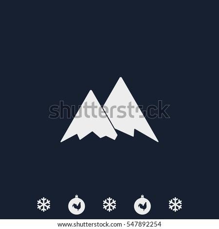Mountains icon symbol.