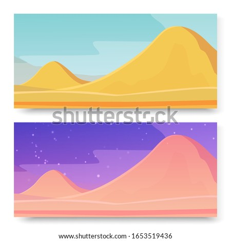 mountains in deserted area on