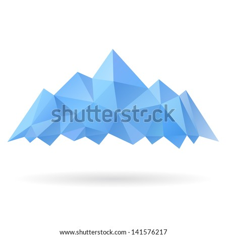 Mountains isolated on a white backgrounds