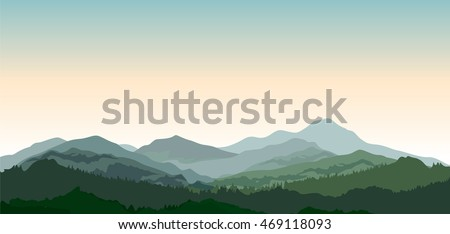 mountains landscape rural
