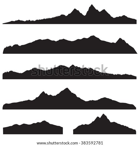 mountains landscape silhouette