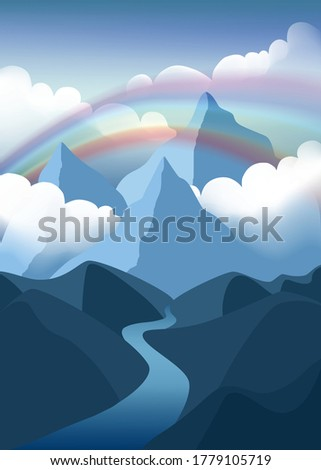 mountains landscape with
