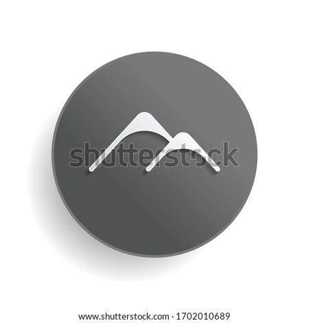 mountains logo  simple icon