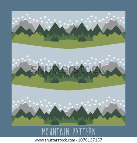 Mountains pattern design.Vector illustration.