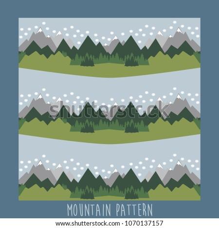 Mountains pattern design.Vector illustration.