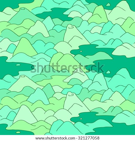 mountains pattern vector