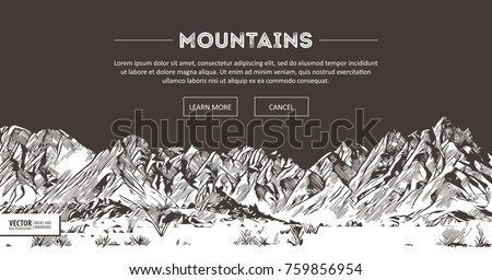 mountains ranges. nature sketch....
