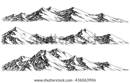 mountains ranges. vector...