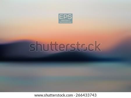 mountains sea sky vector art