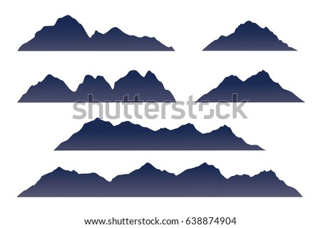 mountains silhouette isolated