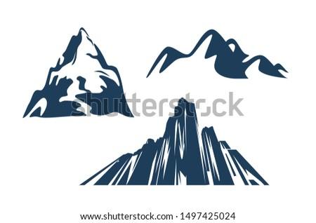 mountains silhouettes black