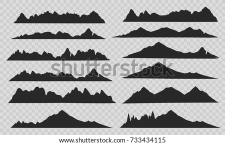 mountains silhouettes on the