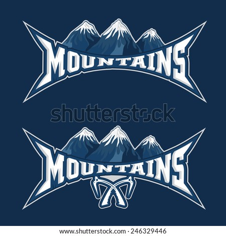 mountains sport team emblem