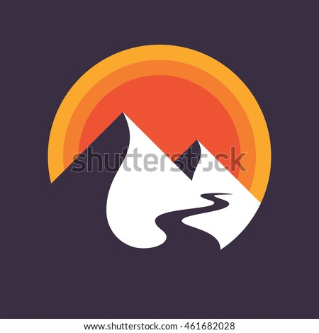 mountains vector icon