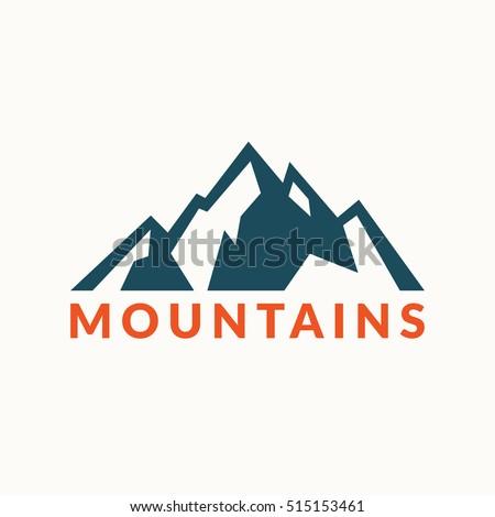 mountains vector icon