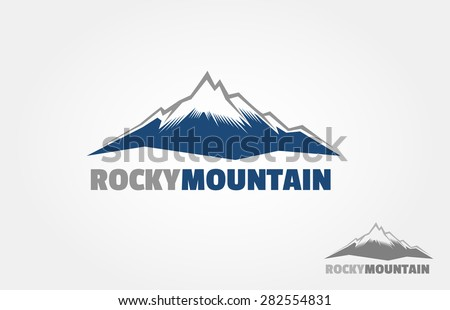 mountains vector logo  isolated