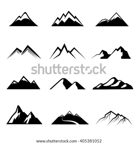 mountains vector nature or