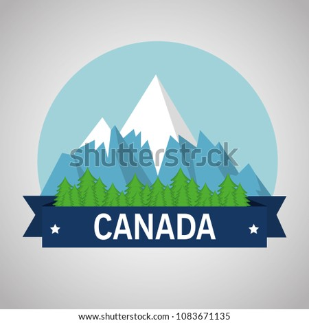 mountains with snow canadian