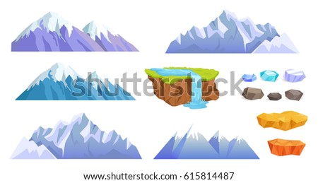 mountains with snow tops