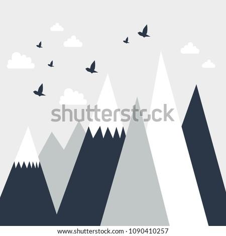 mountainscape  children's room