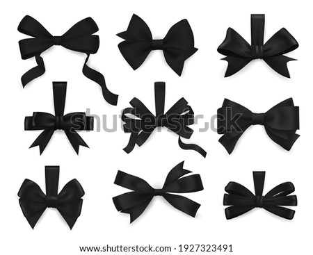 mourning bows and funeral black