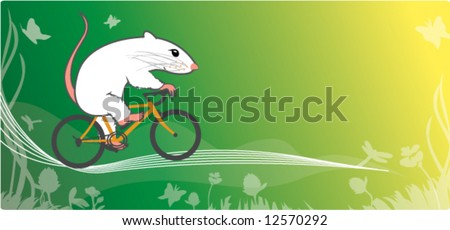 mouse and bicycle