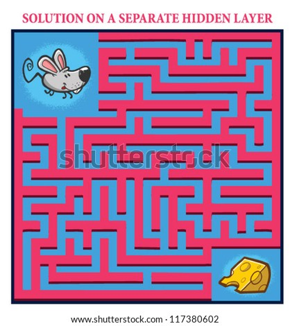 Mouse Cat Cheese Maze Game
