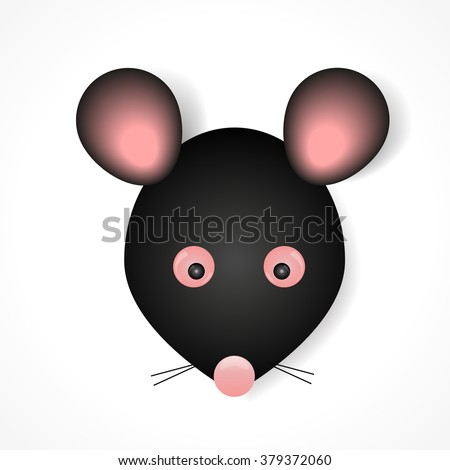 mouse animal black with pink