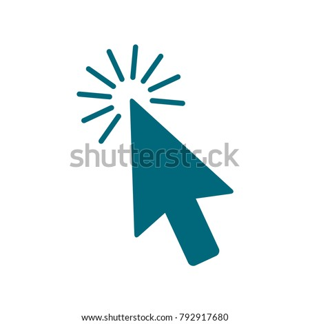 mouse arrow icon, computer mouse arrow vector icon, mouse arrow in trendy flat style