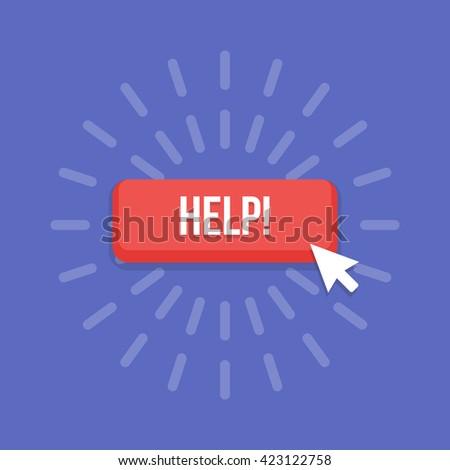 Mouse cursor clicks the help button.
