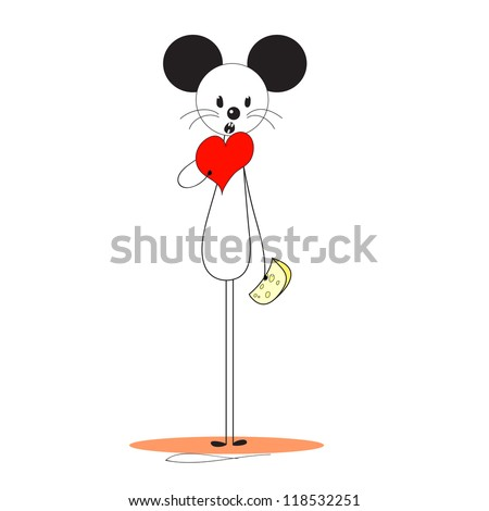 mouse has a heart instead of