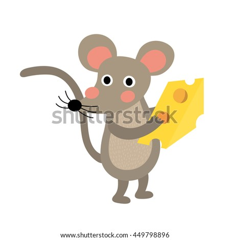 mouse holding cheese animal