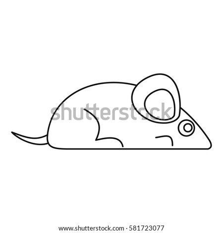 Mouse icon. Outline illustration of mouse vector icon for web