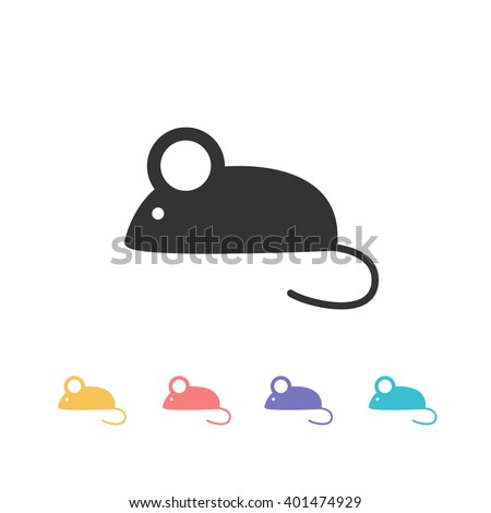 mouse icon. vector illustration