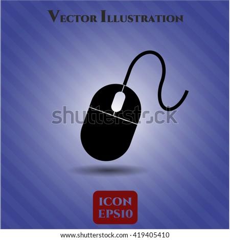 mouse icon vector symbol flat eps jpg app web concept website