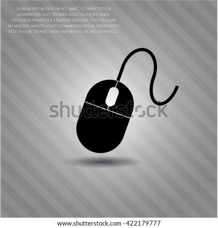 mouse icon vector symbol flat eps jpg app web concept website