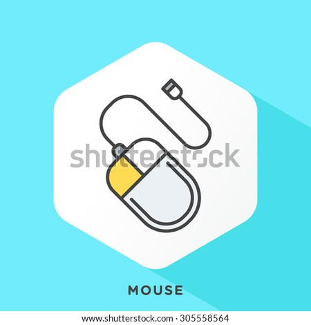 mouse icon with dark grey