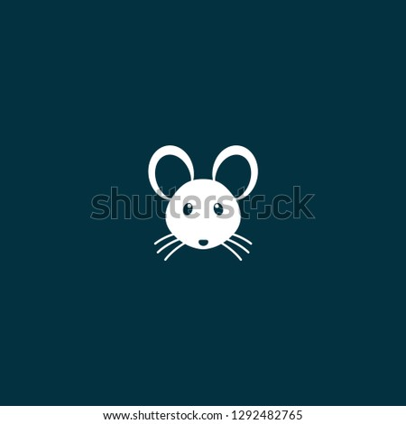 Mouse illustration vector. Mouse illustration vector on blue background