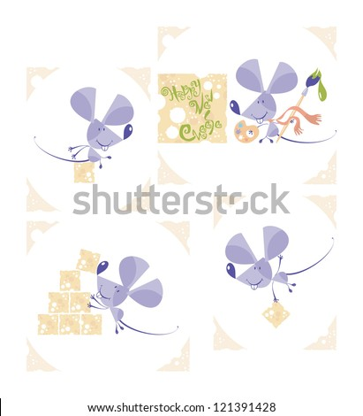 mouse set  2  vector