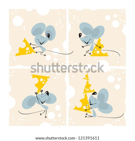 mouse set  1  vector