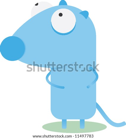 Mouse stylish vector