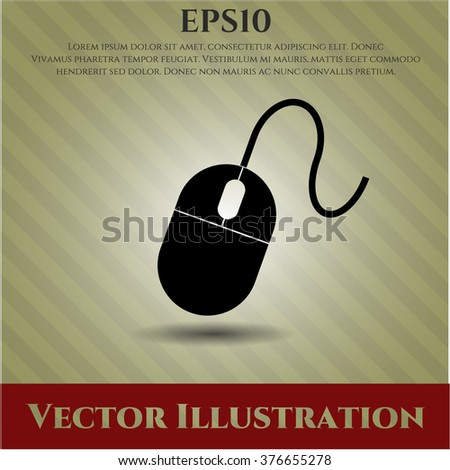 Mouse vector symbol