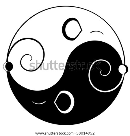 Mouse ying yang symbol of harmony and balance
