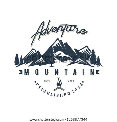 Moutain adventure logo design